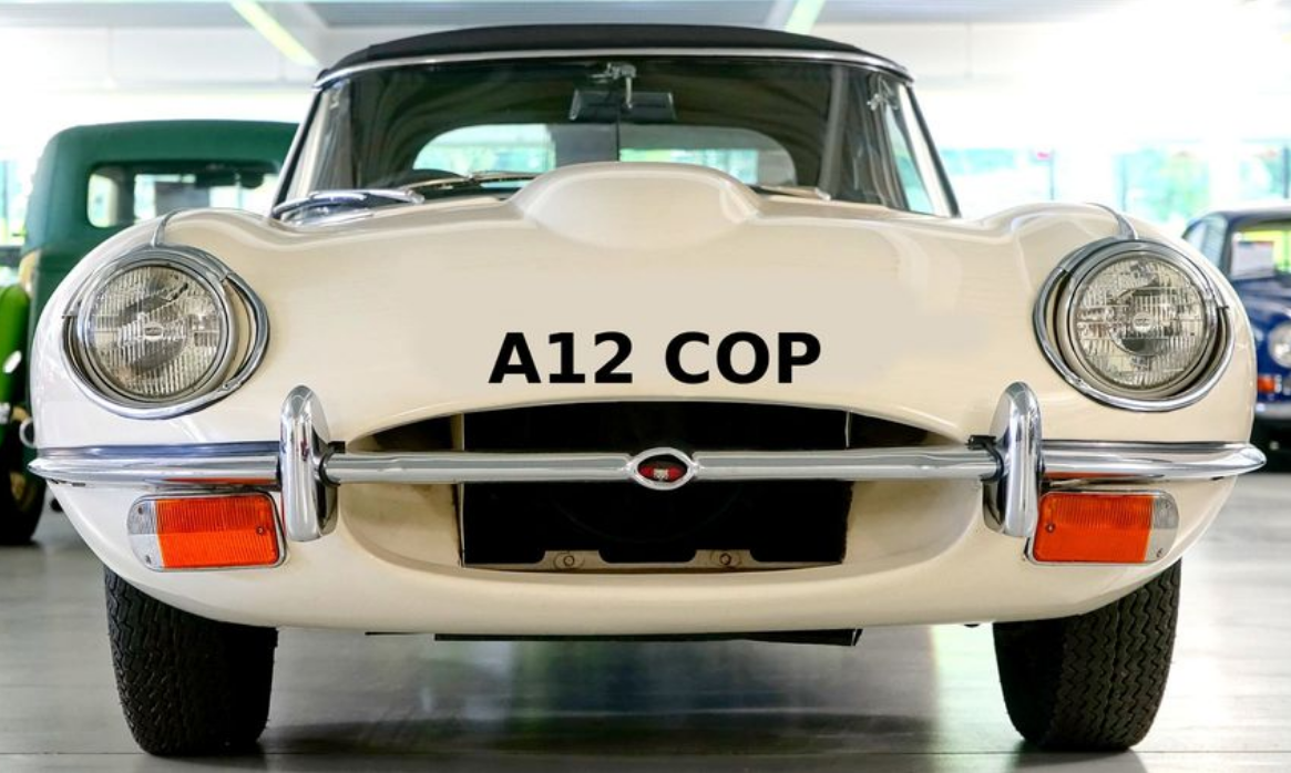 Number Plate: A12 COP (Car Not Included) For Sale (picture 1 of 1)