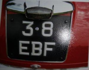 Cherished number for classic Jaguar