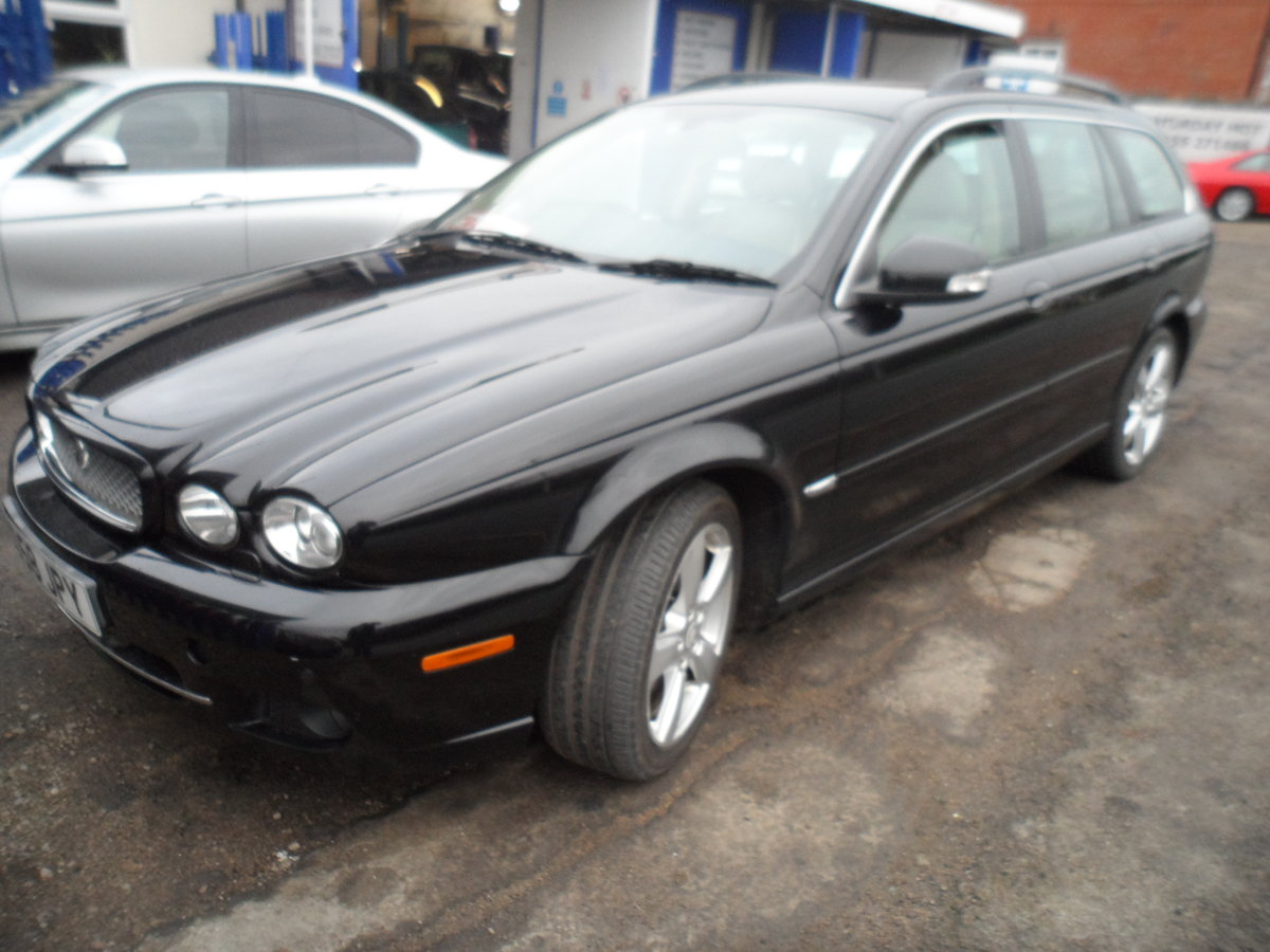 2008 SMART BLACK JAGUAR X TYPE S.E ESTATE TOURING + LEATHER MOTED For Sale (picture 1 of 12)