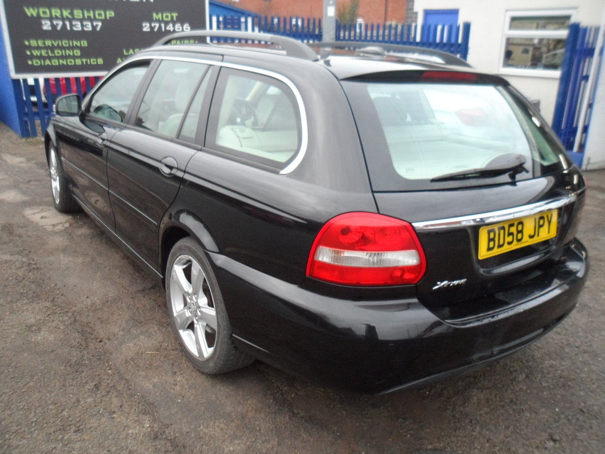 2008 SMART BLACK JAGUAR X TYPE S.E ESTATE TOURING + LEATHER MOTED For Sale (picture 2 of 12)