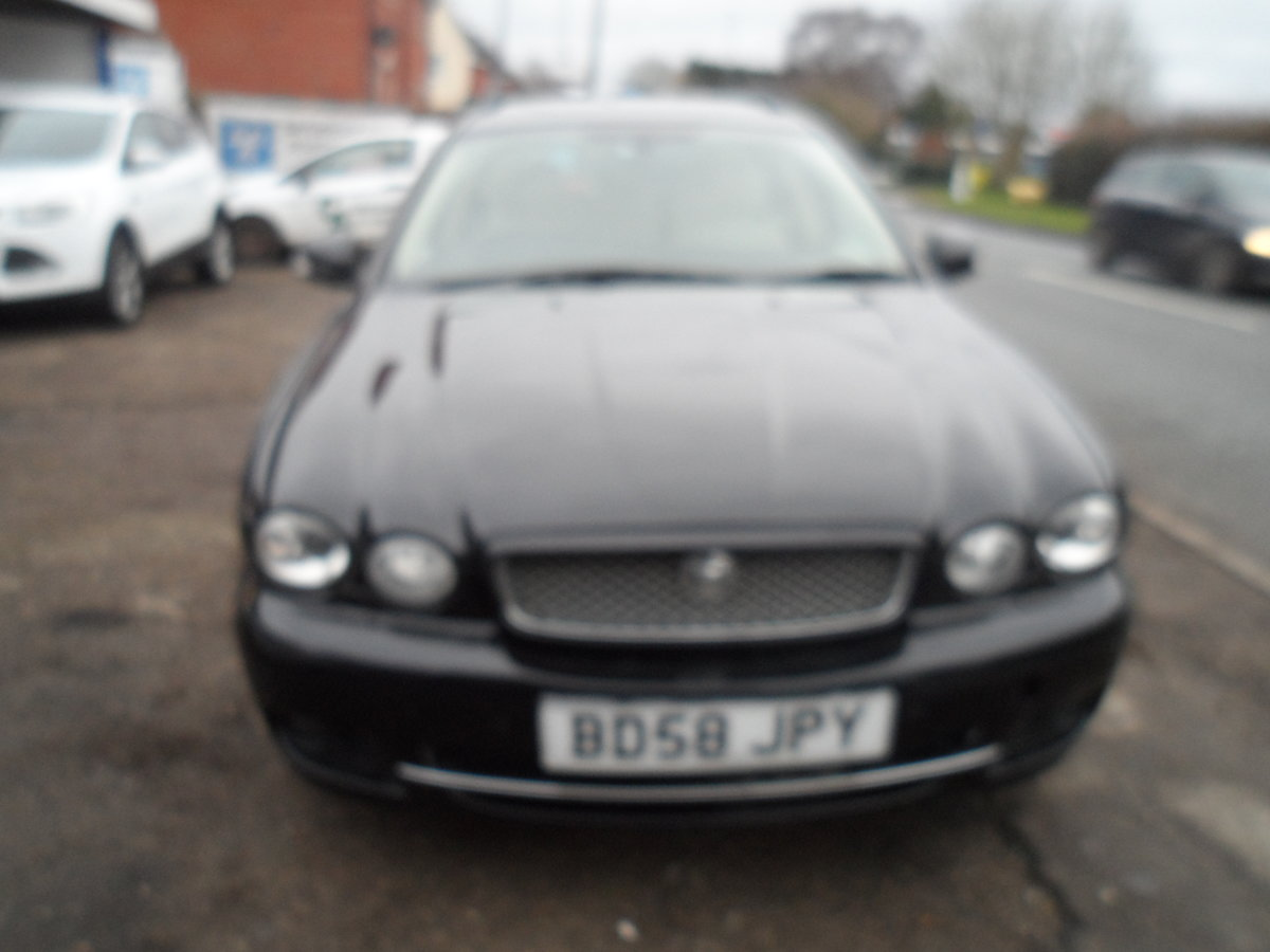2008 SMART BLACK JAGUAR X TYPE S.E ESTATE TOURING + LEATHER MOTED For Sale (picture 3 of 12)