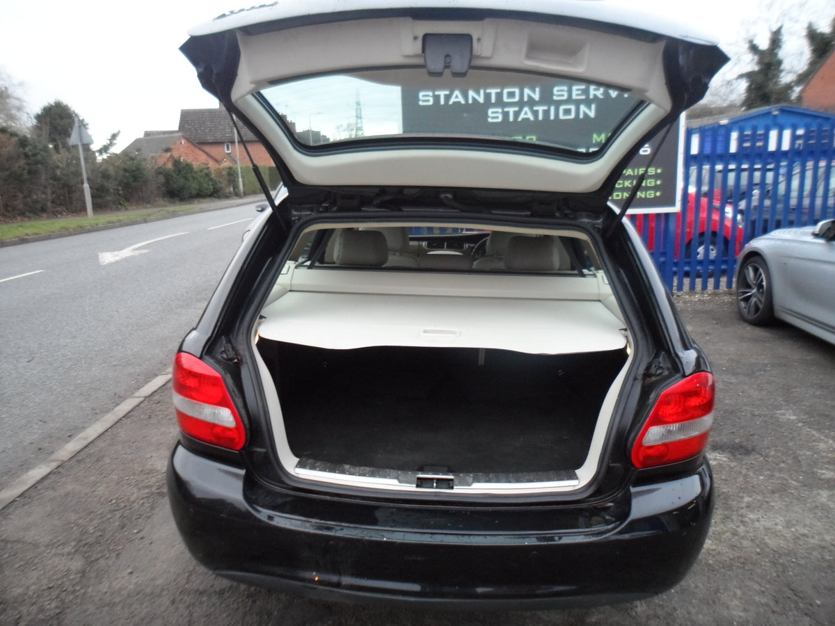 2008 SMART BLACK JAGUAR X TYPE S.E ESTATE TOURING + LEATHER MOTED For Sale (picture 4 of 12)