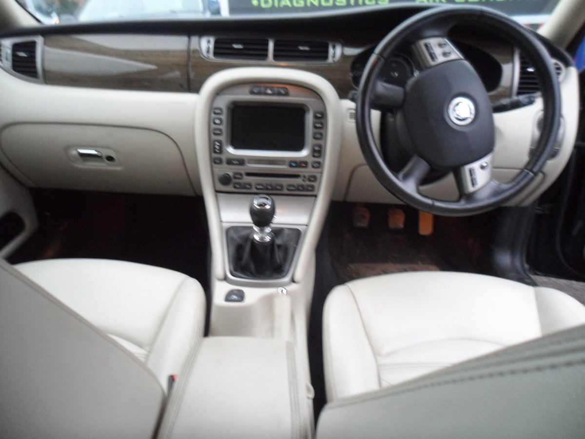 2008 SMART BLACK JAGUAR X TYPE S.E ESTATE TOURING + LEATHER MOTED For Sale (picture 5 of 12)