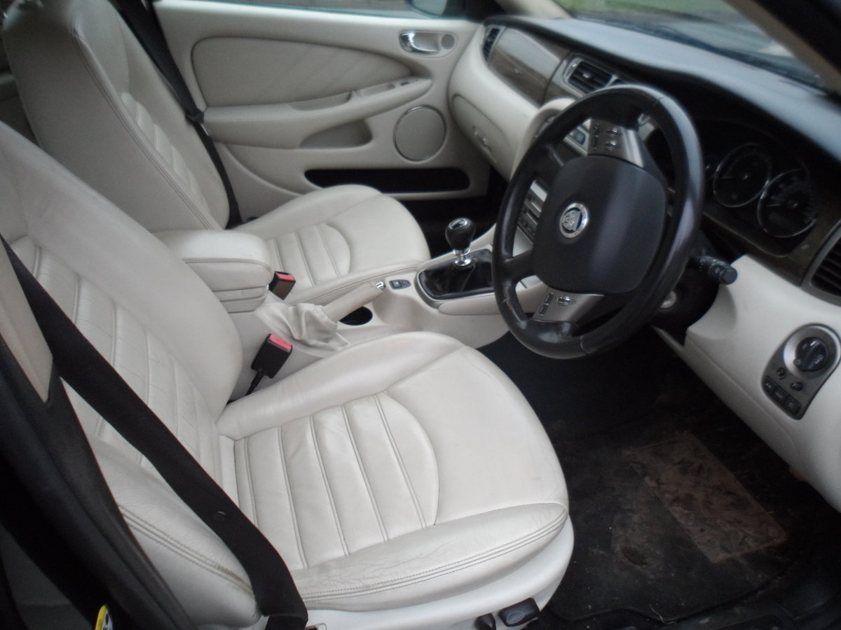 2008 SMART BLACK JAGUAR X TYPE S.E ESTATE TOURING + LEATHER MOTED For Sale (picture 9 of 12)