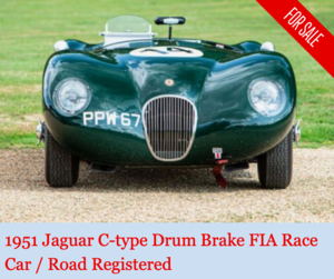 Picture of 1951 Jaguar C-type TOOL ROOM FIA race car For Sale