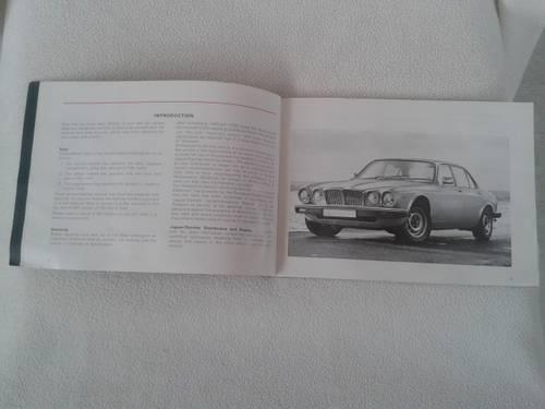 1970 Jaguar XJ12 series III saloon driver's handbook For Sale (picture 2 of 2)