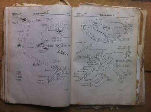 1971 Factory Parts Book Copy, Jaguar Etype V12 S III For Sale (picture 4 of 6)