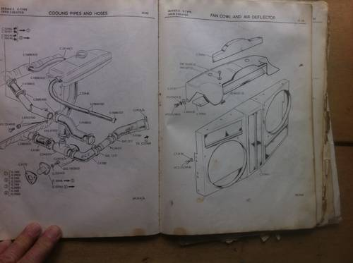 1971 Factory Parts Book Copy, Jaguar Etype V12 S III For Sale (picture 6 of 6)