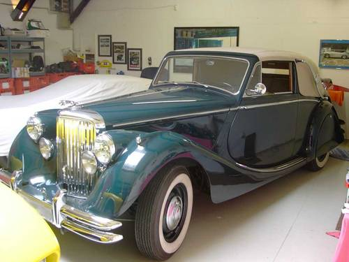 1951 Jaguar MK V Drophead DHC 3.5 Litre Concours For Sale (picture 1 of 6)