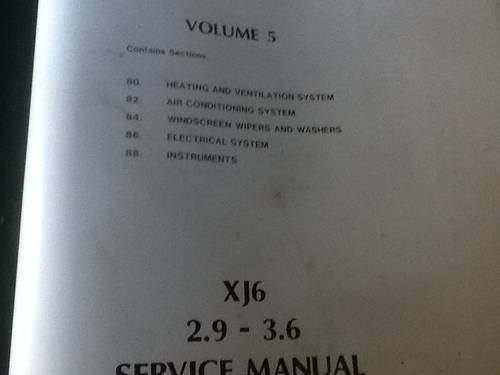 1990 Three Original Jaguar Workshop Manuals For Sale (picture 2 of 6)