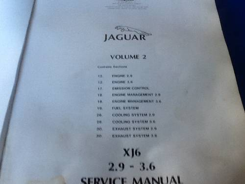 1990 Three Original Jaguar Workshop Manuals For Sale (picture 4 of 6)