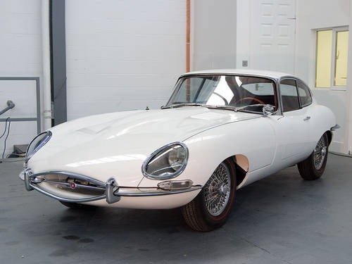 1963 Jaguar E-type 3.8 FHC in White For Sale (picture 1 of 6)