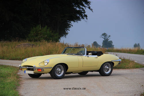 Jaguar E Type For Sale >> 1969 Jaguar E-type roadster series 2, primrose yellow For ...