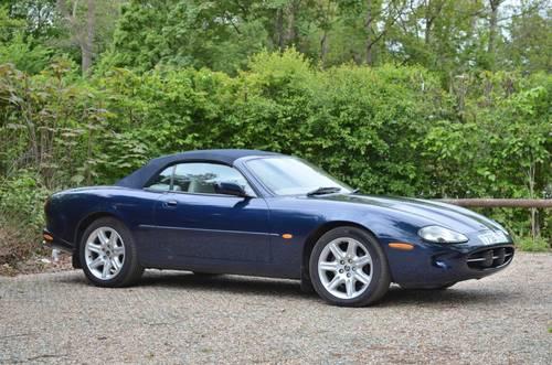 1999 Sapphire Blue Metallic Jaguar XK8 Convertible. 4.0L V8. SOLD (picture 1 of 6)