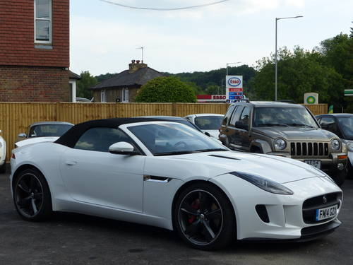 2014 JAGUAR F-TYPE 3.0 V6 SUPERCHARGED AUTO CONVERTIBLE + LHD  SOLD (picture 1 of 6)