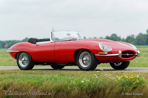 JAGUAR E-TYPE SERIES 1 3.8 OTS ROADSTER, 1964 - TOP RESTORED For Sale (picture 3 of 6)