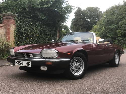 1991 XJS CONVERTIBLE V12 AUTO SOLD (picture 1 of 6)