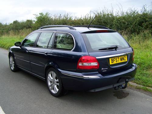 2007 EXCELLENT JAGUAR X-TYPE 2.2D SOVEREIGN ESTATE SATNAV LEATHER SOLD (picture 2 of 6)