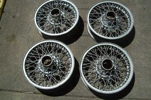 1950  Borrani /Rudge  Whitworth  15 inch wire  wheels For Sale (picture 1 of 6)