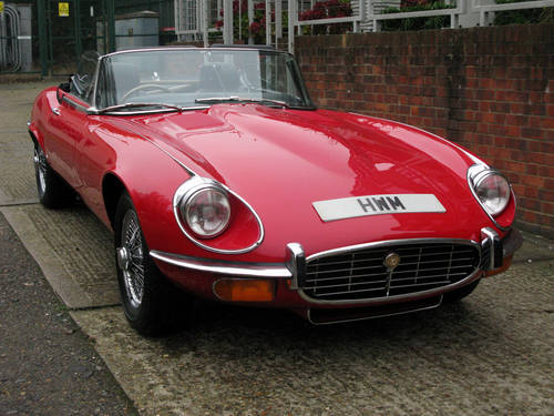 1971 JAGUAR 'E' TYPE ROADSTER SPECIFICATION (SIGNAL RED) For Sale (picture 1 of 6)