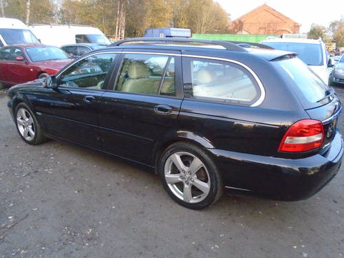 2008 58 PLATE DIESEL JAGUAR X TYPE IN BLACK MOTED JUNE SMART For Sale (picture 1 of 6)