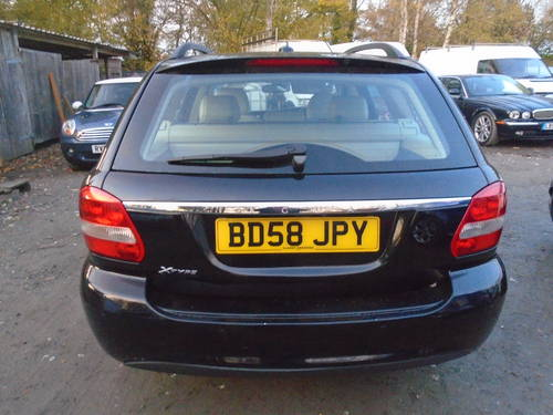 2008 58 PLATE DIESEL JAGUAR X TYPE IN BLACK MOTED JUNE SMART For Sale (picture 2 of 6)