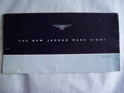 1958 Jaguar Mark VIII Sales Brochure For Sale (picture 2 of 6)