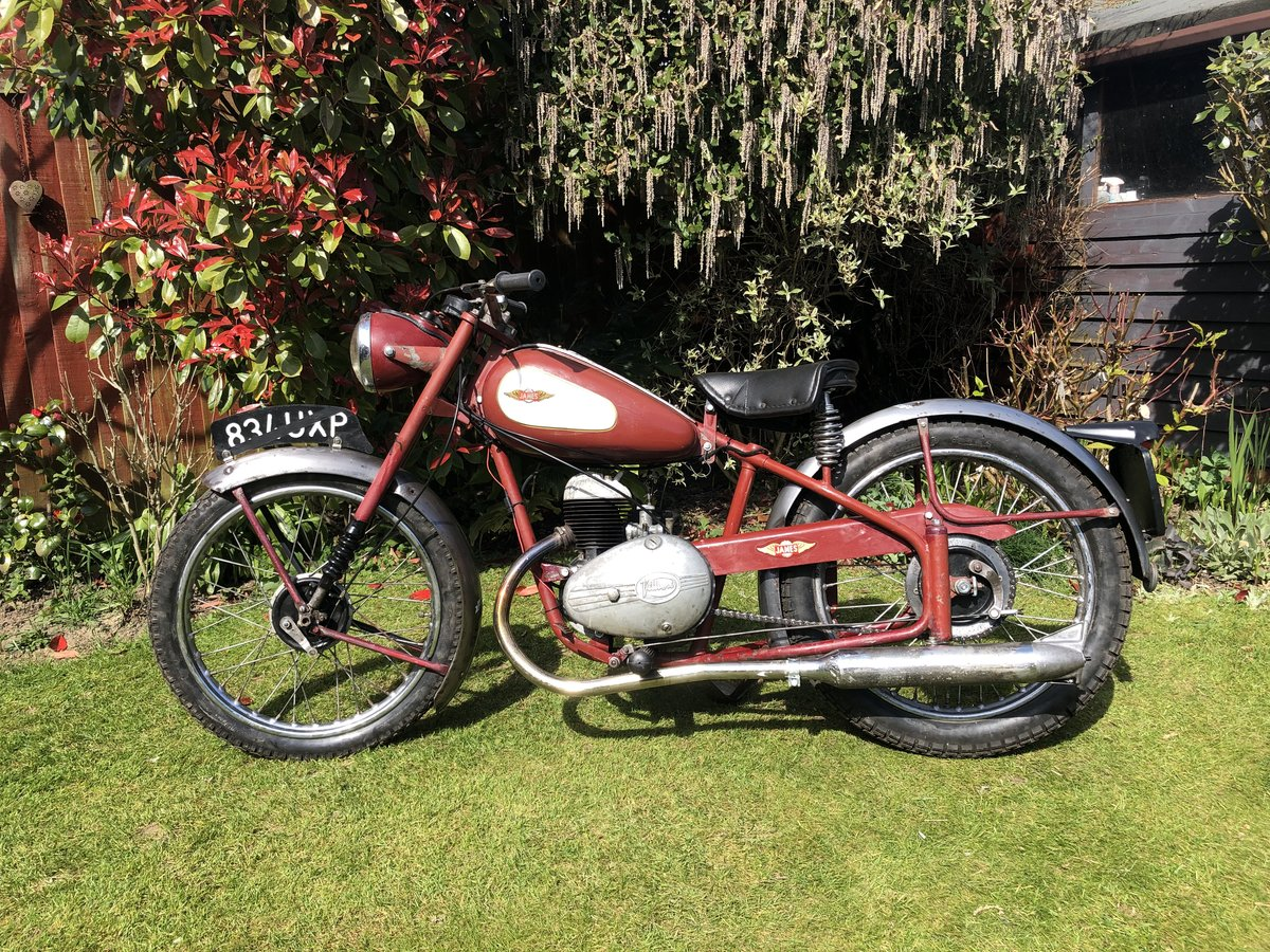 1954 James Cadet  122cc, Classic 50's Lightweight. For Sale (picture 1 of 6)
