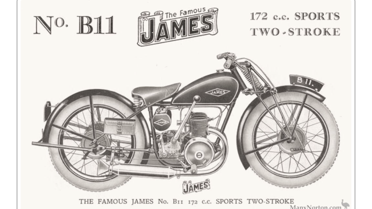 1957 James motorcycle plunger/rigid For Sale (picture 1 of 1)