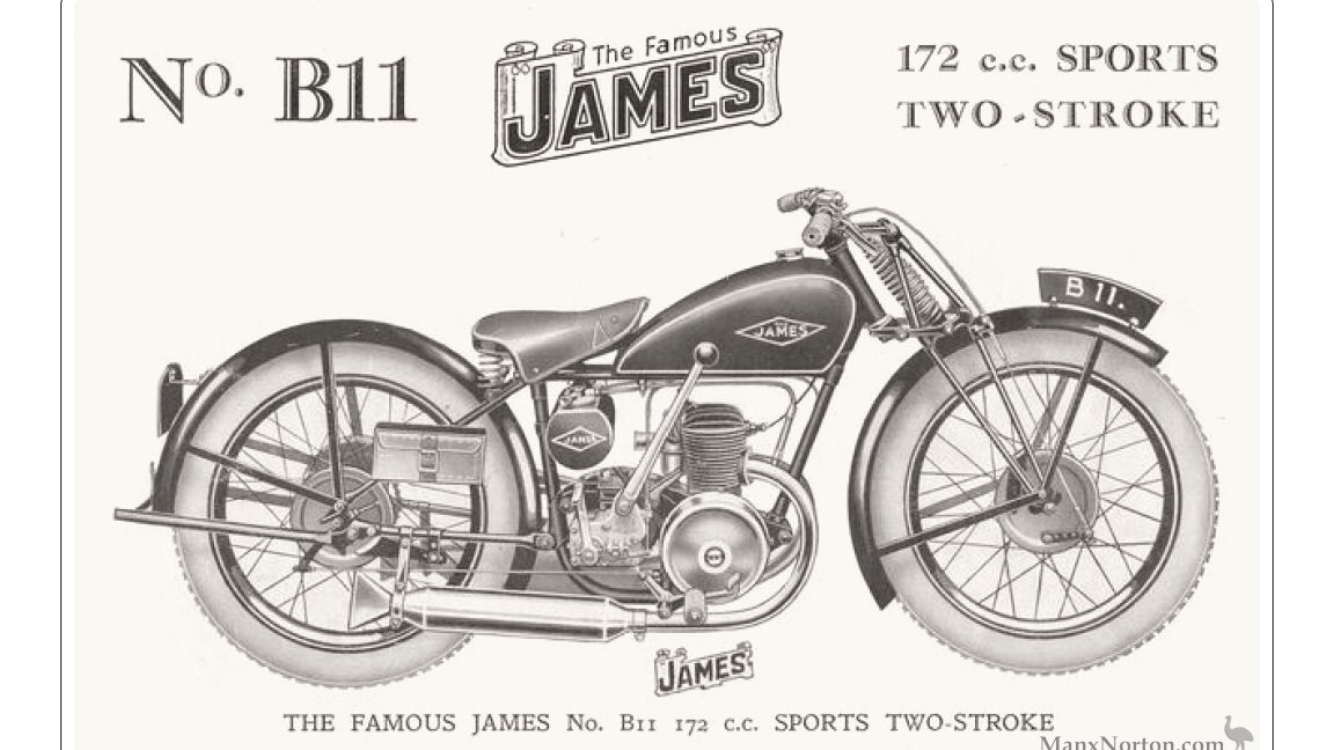 James motorcycle plunger/rigid