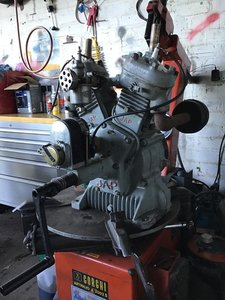 JAP v twin 750cc water cooled side valve engine