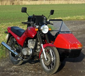 2014 Jawa 350 2-stroke with sidecar, Moted and ready to ride SOLD
