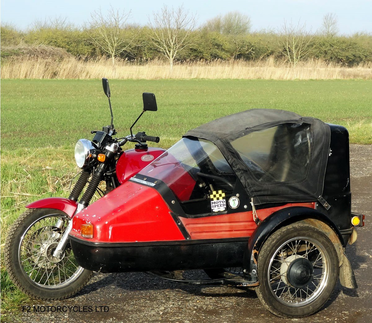 2014 Jawa 350 2-stroke with sidecar, Moted and ready to ride SOLD (picture 5 of 6)
