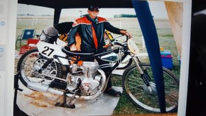 Grass/Longtrack Motorcycle.