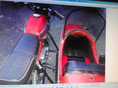 1975 jawa bike plus sidecar not guzzi dneper cz mv ural For Sale (picture 1 of 4)