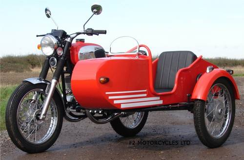 2013 Jawa 350 and Sidecar, electric start, very low mileage.  SOLD (picture 2 of 6)