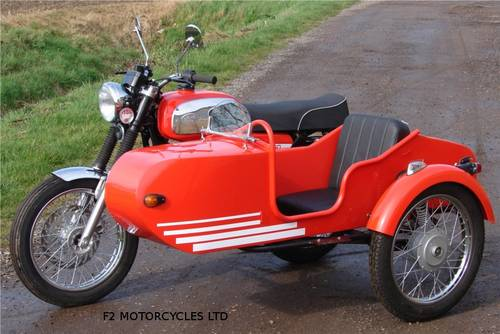 2013 Jawa 350 and Sidecar, electric start, very low mileage.  SOLD (picture 6 of 6)