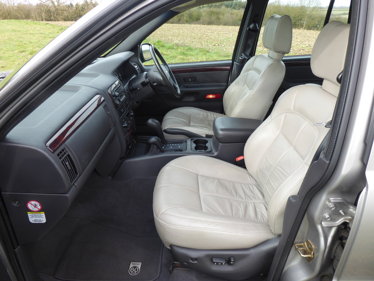 2002 Jeep Grand Cherokee 60th A 4.7 V8 77k Full History 1 x Owner For Sale (picture 3 of 6)