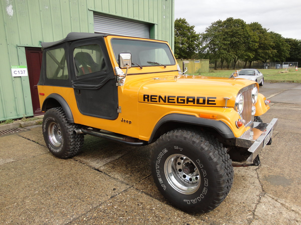 1978 Jeep Renegade 5.9L V8 Manual RHD For Sale (picture 1 of 6)