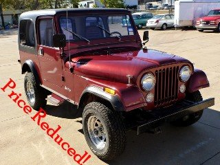 1985 Jeep CJ7 SUV 4x4 clean Red driver New AC  $26.5k