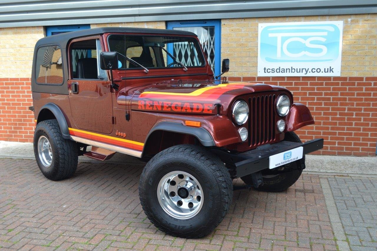1985 Jeep Renegade CJ-7 5.8i V8 4-Speed Manual Convertible For Sale (picture 1 of 6)