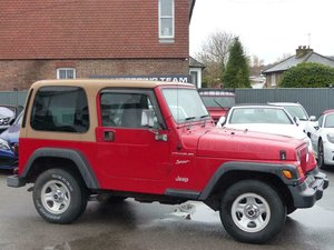 JEEP WRANGLER 2.5 SPORT 4WD - 2000/V + PRIVATE PLATE For Sale