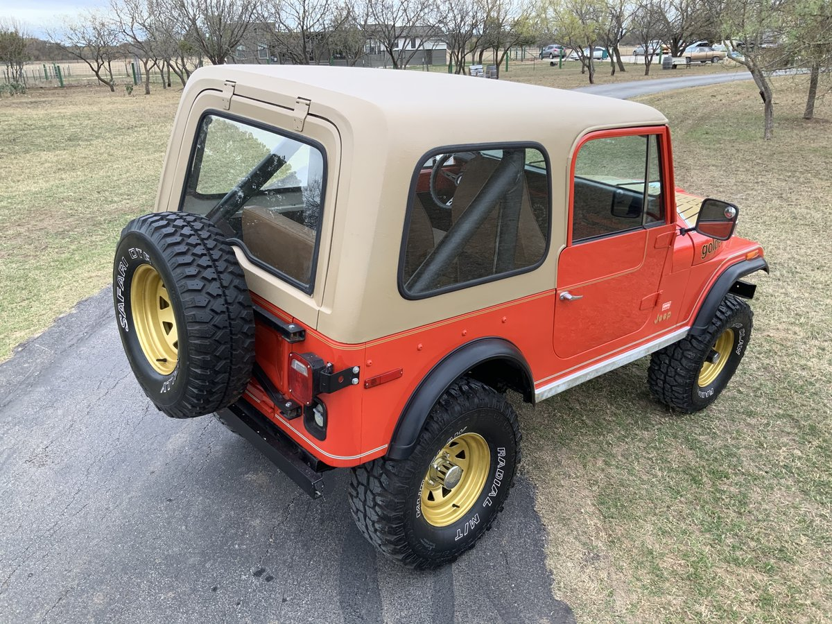 1979 Jeep CJ Levi Golden Eagle Edition 4WD 6Cyl Automatic SOLD (picture 3 of 6)