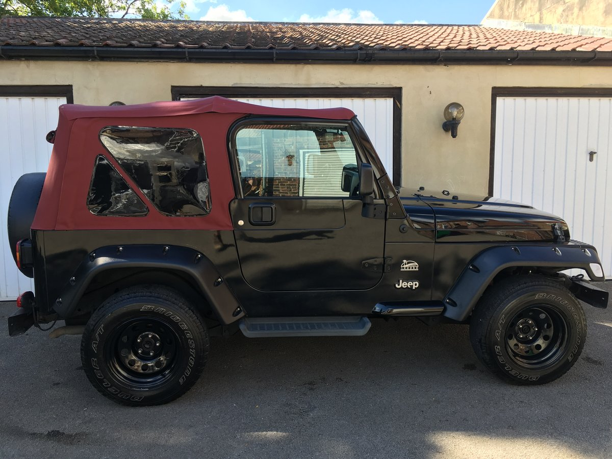 2006 56 Jeep Wrangler TJ 4.0 Sahara Soft top Auto, £270 tax SOLD (picture 2 of 6)