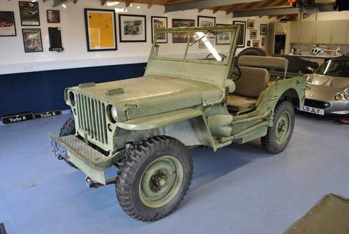 1942 Jeep GPW War Time Classic Car Scripted Body SOLD (picture 1 of 6)
