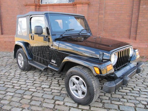 2005 WRANGLER SPORT SOFT TOP CONVERTIBLE 4.0 AUTO 63000 MILES  For Sale (picture 1 of 6)