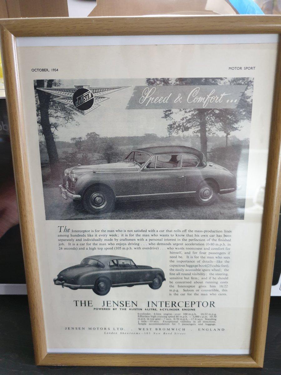 1954 Original Jensen Interceptor Advert For Sale (picture 1 of 2)