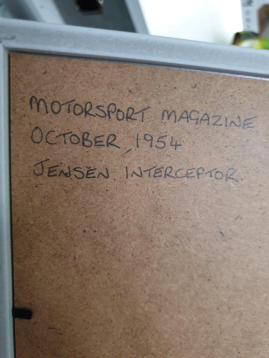 1954 Original Jensen Interceptor Advert For Sale (picture 2 of 2)