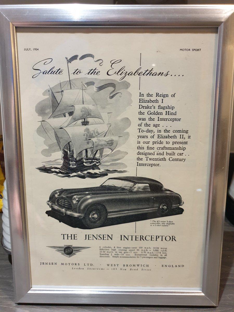 Original 1954 Jensen Interceptor advert For Sale (picture 1 of 2)