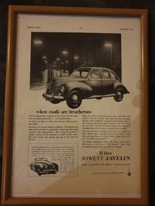 1951 Jowett Javelin Advert Original